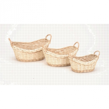 2737 Korbschale oval, 3-er Set, 32 x 24 x 11/15 cm